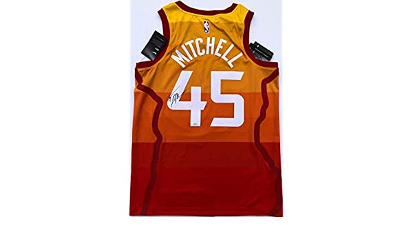 3d0e192c Donovan Mitchell #45 Autographed Signed Nike Utah Jazz City Swingman  Basketball Jersey Memorabilia JSA at Amazon's Sports Collectibles Store