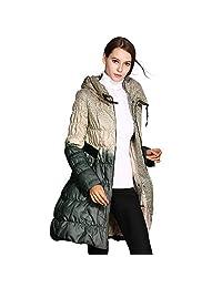 COUTUDI Winter Lightweight Plus Size Long Puffer Jacket Down Coats for Women