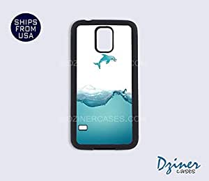 Galaxy Note 2 Case - Water Splash Dolphin by lolosakes