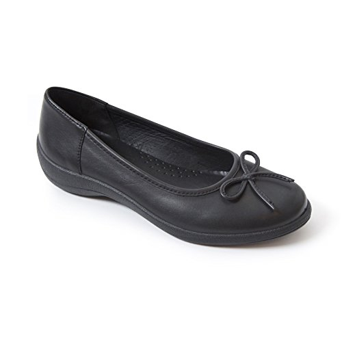 Horn Britain Scarpa Fit Free Donna Foulard Ampia In Shoe Made Uk E In Leather Women's Footcare Da 'roxy' Forma 'roxy' In E Britain Pelle Libero Black In Nero Corno Made Uk Scarpa Wide Shoe Padders Footcare wOIxHfSqn