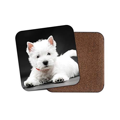 West Highland Terrier Puppy Coaster - Westie Dog Cute White Breeder Gift #15223
