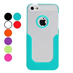 AES - U Shape Hard Case Frosted Surface for iPhone 5/5S (Assorted Colors) , Red