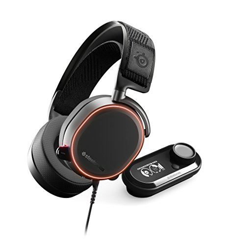 SteelSeries Arctis Pro + GameDAC Gaming Headset - Certified Hi-Res Audio System...