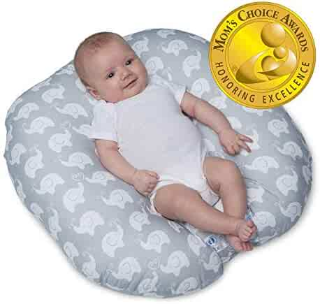 Boppy Original Newborn Lounger, Elephant Love Gray