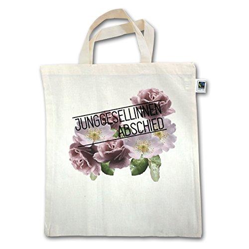 JGA Junggesellinnenabschied - Blumen Junggesellinnenabschied - Unisize - Natural - XT500 - Jutebeutel kurzer Henkel