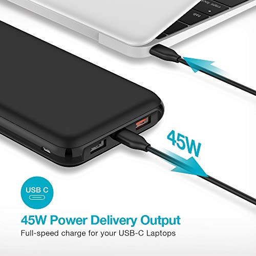 45W USB C Power Bank Power Delivery, 21000mAh PD Portable Charger with Quick Charge 3.0 Type C Battery Pack Compatible with USB-C Laptops, MacBook Pro, iPad Pro, MacBook Air, Nintendo Switch by Charmast (Image #1)