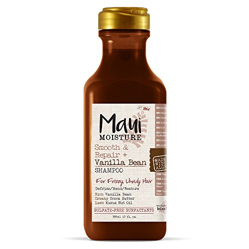 Maui Moisture Smooth & Repair + Vanilla Bean Shampoo, 13 Ounce