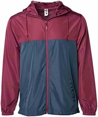 4ee3a89a Global Men's Hooded Lightweight Windbreaker Winter Jacket Water Resistant  Shell