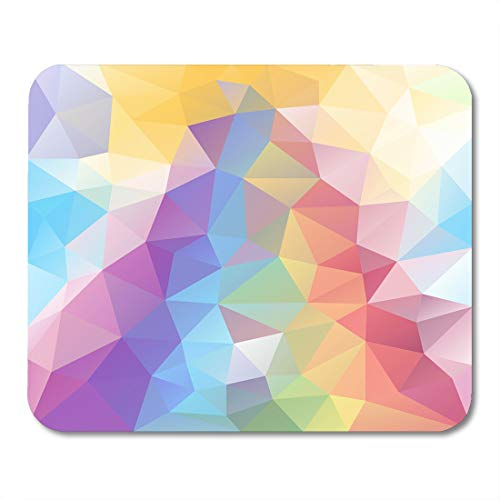 Tessellated Patterns - Boszina Mouse Pads Abstract Irregular Polygon with Triangle Pattern in Pastel Full Spectrum Rainbow Color with Reflection Mouse Pad for notebooks,Desktop Computers mats 9.5