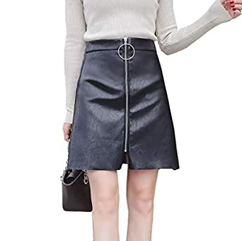 WL Faldas PU, Mujer Falda Corto Moda Sexy Skirt con Decoracion ...