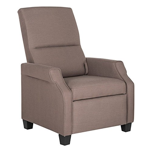 Safavieh Home Collection Hamilton Dark Taupe Recliner Chair, Standard