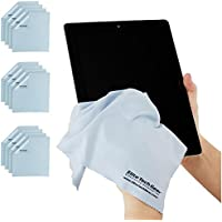 (12-Pack OVERSIZED) The Most Amazing Microfiber Cleaning Cloths - Perfect As Cell Phone, Tablet, Camera Lens, Eyeglasses, Computer, Monitor, Laptop Screens, Video, Projector, Binocular, Telescope, Headphone, CLEANERS - A Must Have As a Digital Cleaning Accessory For All Your Electronic and Vehicle Accessories - Also, Essential for Your Amateur or Professional Photographic Flash Equipment Bag, Kits, Protectors or Products - (12 Light Blue OVERSIZED 12x12 inch)!