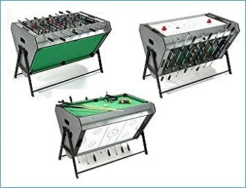 Tri Sport Multi Games Table   Table Football, Air Hockey U0026 Pool