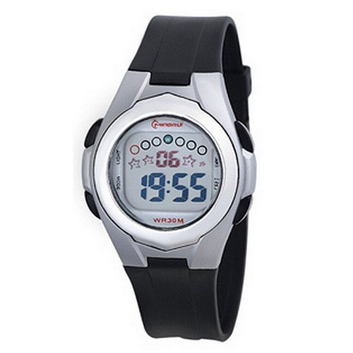 Montre Concept - Relojes digitales hombre Mingrui - Correa Plástico Negro - Dial Redondo Fondo Gris: Amazon.es: Relojes