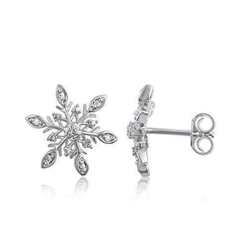 Diamond Accent Snow Flake Earring