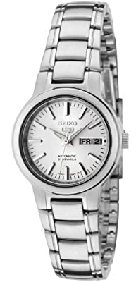 Seiko Women's SYME39K1 Seiko 5 Automatic Light Silver Dial Stainless Steel Watch