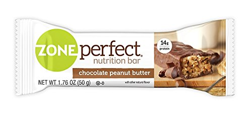 ZonePerfect Nutrition Snack Bars, High Protein Energy Bars, Chocolate Peanut Butter, 1.76 Ounce Bar, 12 (Protein Snack Bar)