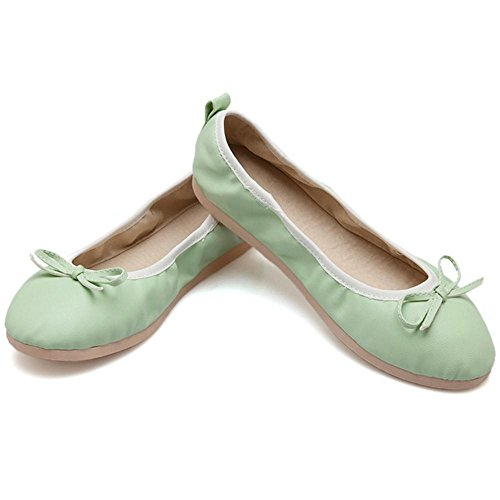 Para Plano Light RAZAMAZA Mujer Green de Tacon Ballet Zapatos XwXT4Otq