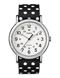 Timex TW2P86600GP Weekender White Dial and Polka Dot Nylon NATO Strap Watch