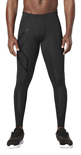 2XU Men's Elite MCS Compression Tights, Black/Nero, Medium by 2XU