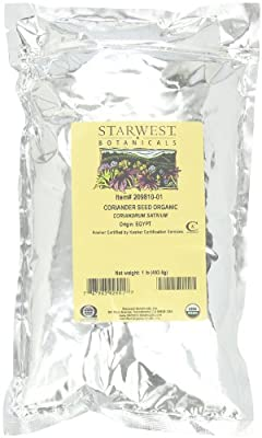 Starwest Botanicals Organic Coriander Seed, 1-pound Bags (Pack of 3)