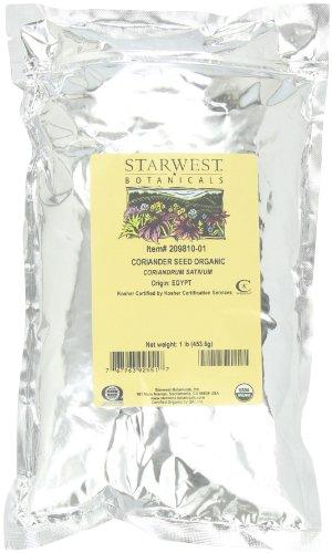 Starwest Botanicals Organic Coriander Seed, 1-pound Bags ...