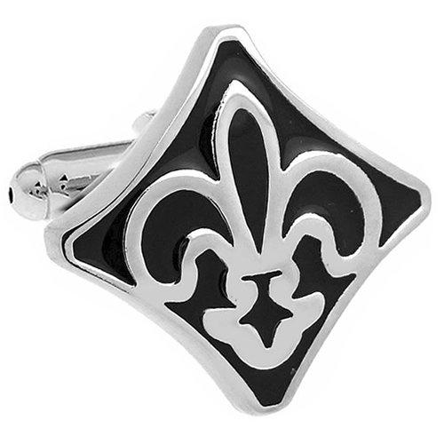 Fleur-de-lis lily of the coat of arms black cufflinks - Lis Cufflinks Cufflinks