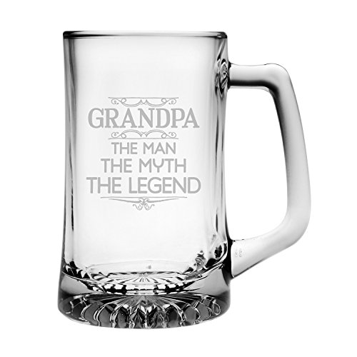 ''Grandpa: The Man, The Myth, The Legend'' Beer Mug by Susquehanna Glass