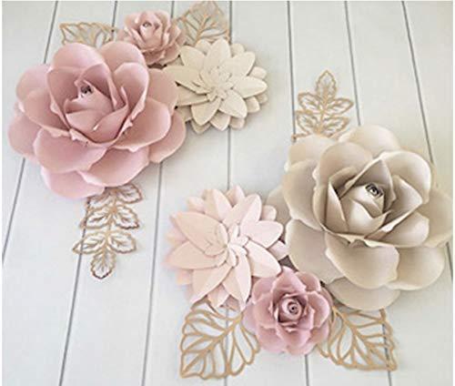 Baby Shower Decor Flower Backdrop Paper Flower Wall Decor Nursery Backdrop Nursery Wall Art Giant Paper Flowers for Nursery Wall Decor
