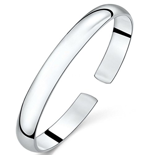 - JIAYIQI Simple Silver Plated Color Open Bangle Bracelet for Women