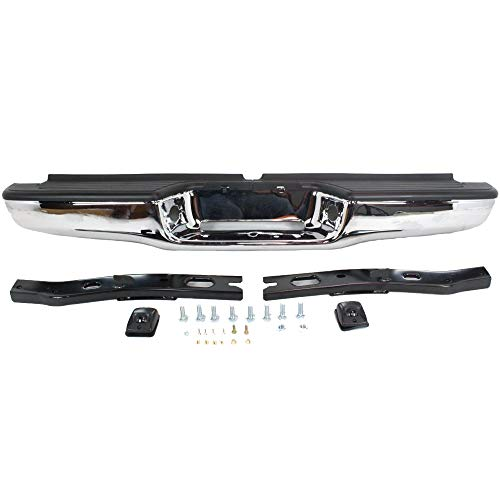 2 Rear Body Kit Bumper (MAPM Toyota Tacoma Chrome Replacement Complete Rear Bumper For Toyota Tacoma TO1102215 1995 96 97 98 99 00 01 02 03 04)