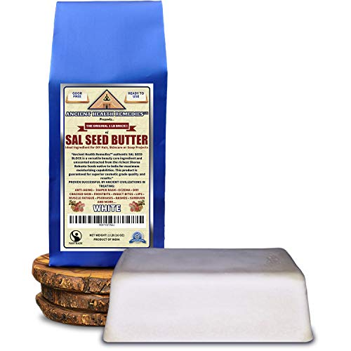 Cosmetic Grade, PURE SAL SEED BUTTER 1 LB (16 oz) BLOCK Best Price Highest Quality, Bulk, Odor Free Alternative to Raw Butters. Ideal Healing Base for DIY Balms, Creams, Hair and Soap Making (INDIA).