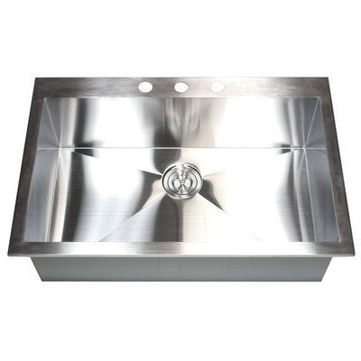 33'' x 22'' Single Bowl Kitchen Sink by eModern Decor by eModern Decor