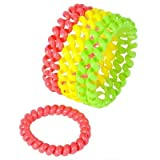 1 Dozen Jewelry Party Favors Neon Cord Bracelets, Neon Durable Coil Fidget ...