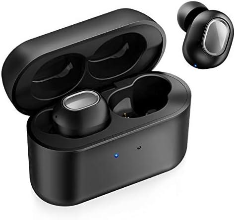 iTeknic Bluetooth 5.0 Headphones, True Wireless Earbuds Deep Bass HiFi Sound, IPX7 Waterproof TWS Stereo Sports Earbuds, in-Ear Binaural Call Headphones with Charging Case, Built in Mic