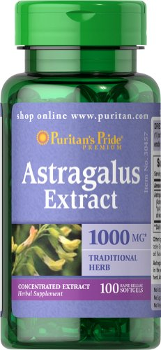 025077304578 - Puritan's Pride Astragalus Extract 1000 mg-100 S carousel main 0