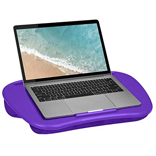 LapGear Mydesk Lap Desk with Device Ledge and Phone Holder - Purple - Fits Up to 15.6 Inch Laptops - Style No. 44442 (Computer Desk Purple)