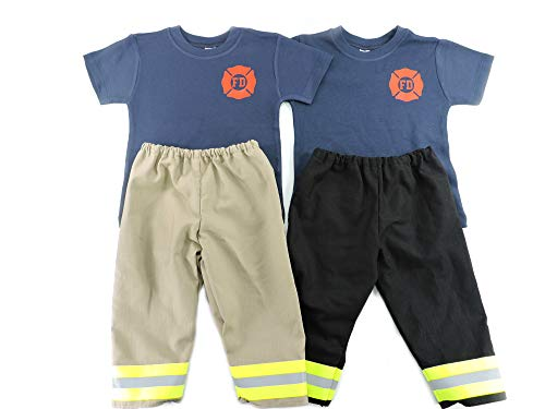 Toddler Firefighter Outfit Bunker Gear Look -