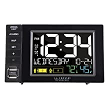 La Crosse Technology S85906 USB Charging Station with Dual Alarms