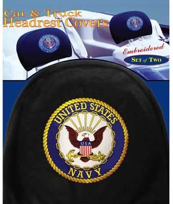 US Navy Headrest Covers Pair