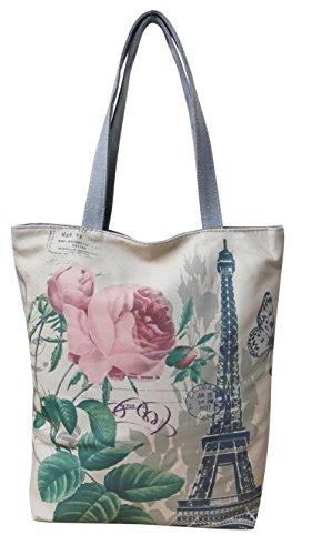 Tote Shopper 6 Femmes Satchel bandoulière Filles Impression Designer Sac Design Casual à Canvas Sac CCR8qO4w