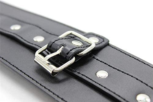 suitable for all waist sizes with adjustable metal buckle Leather strap fixed collar hand
