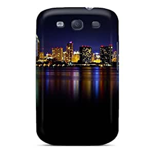PQY2441jHdY Case Cover, Fashionable Galaxy S3 Case - San Diego Night California Usa