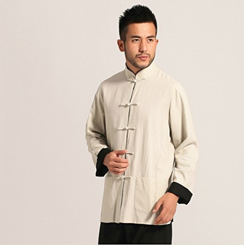 Cotton-flax Tang Suits Double-sided Wear Retro Jackets mens shirts Business Jackets Full Dress by Double-sided Wear Tang Suit (Image #2)
