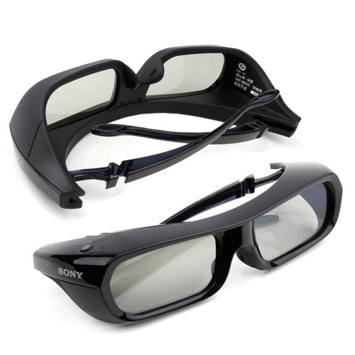 2 Pieces Sony Rechargeable 3D Glasses Active Shutter Black TDG-BR250 Original New