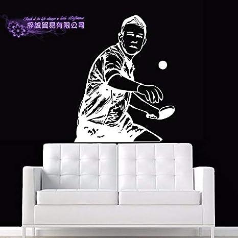 ASFGA Jugador de Tenis de Mesa Pegatina Tenis de Mesa Deporte calcomanía póster Vinilo calcomanía de Pared Pegatina Quadro Parede Mural Decorativo Tenis de Mesa calcomanía 46x58cm