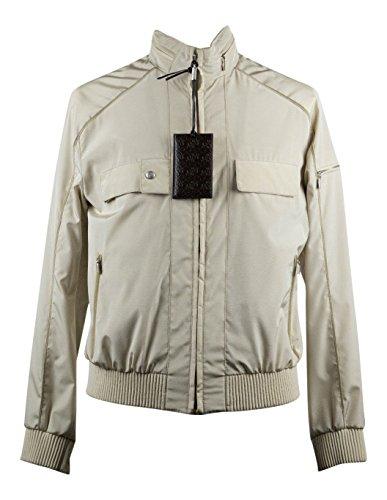 Brioni Beige Silk Blend W/ Leather Trimmings Bomber Jacket Size (Brioni Jacket)