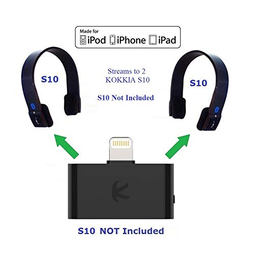 KOKKIA i10L_Pro (Black) : DIGITAL Bluetooth Splitter Transmitter with switchable aptX/Low-Latency aptX/FastStream/SBC codecs,compatible with Lightning Connector,compatible with iPhone,iPad,iPod Touch. by KOKKIA (Image #6)