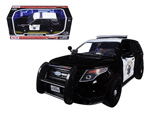Motor Max 1:24 W/B 2015 Ford Police Interceptor Utility with Light Bar CHP Diecast Vehicle (1 Police 24)
