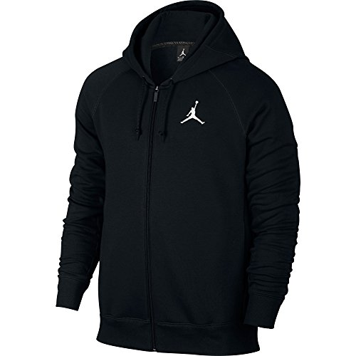 Jordan Jumpan Flight Men's Hoodie Winter Warm Pullover Black/White 823064-010 (Size XL) by Jordan